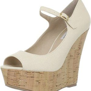 GUESS Nude Mary Jane Wedges